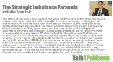 The Strategic Imbalance Paranoia By Misbah Azam, Ph.D.