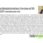 Obama Administration: Erosion of US Primacy? By Misbah Azam, Ph.D.